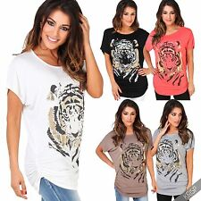 Women's Stretch Animal Print Scoop Neck Other Tops & Shirts