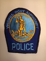 Vintage Virginia Port Authority Police Shoulder Patch Embroidered Cheesecloth
