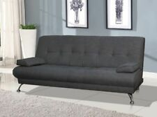 Modern Italian Venice Sofa Bed Futon - Grey Fabric