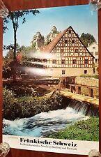 Fränkische Schweiz Tüchersfeld 70er Poster Plakat Germany Deutschland Bayern