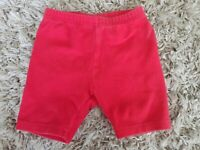 Adorable Gymboree Vintage Girls Size X-small 1 1/2- 2 years Red Bike Shorts VGUC