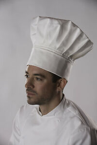 Dennys Traditional Tall Chef Hat White 5 Sizes