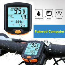 Waterproof  Wireless Bike Bicycle Computer Cycle Odometer Speedometer LCD