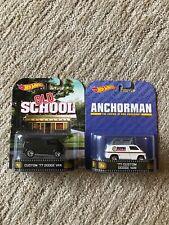 "PAIR '77 DODGE CUSTOM VAN ""OLD SCHOOL"" ANCHORMAN Hot Wheels RETRO ENTERTAINMENT"