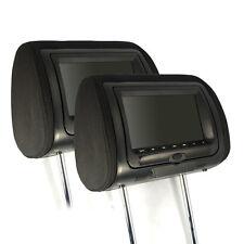 "SDC KS7DK für Ford 2x 7"" digital LCD Kopfstützen Monitor mit DVD Anthrazit Stoff"