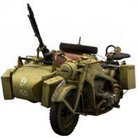 Unpainted 1/16 German Motorcycle WW2 WWII Resin Figure Model Kit Unassembled