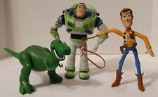 Disney Pixar Toy Story Action Figure Lot Of 3 Woody Buzz and Rex
