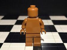 Lego Plain Dark Orange Minifigure Head Torso Hands Legs / Monochrome