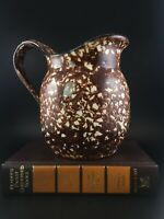 Vintage Stangl Pottery Brown Spongeware Town and Country Pitcher Hand Painted