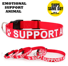 Emotional Support Animal Esa Collar Optional Metal Tag Adjustable Red Esa Access