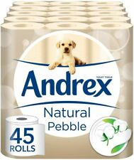 Andrex Natural Pebble Toilet Tissue 45 Rolls x 221 Sheets x 2 Ply Lavatory Paper