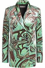New £1695 Emilio Pucci Double Breasted Printed Velvet Blazer