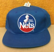 Vintage New New Jersey Nets CAP HAT 90s Old Stock NBA NWT