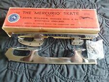 "John Wilson New Figure Mercurio Chrome Plated Skate Blades 8&3/4 - 9"" Boot Lengt"