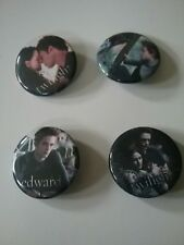 Set Of 4 Twilight Movie Promotional Buttons, Pre-Owned NECA