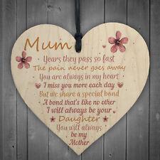 Mum Garden Memorial Gift Wooden Heart Grave Plaque Gifts For Mum In Memory Sign