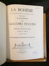 Puccini La Bohème opéra partition chant-piano reliée éditions française ricordi