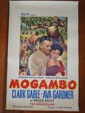 Affiche de cinéma ancienne. Mogambo