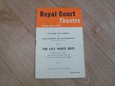 ROYAL COURT THEATRE LONDON - The Lily White Boys programme 1960 ALBERT FINNEY