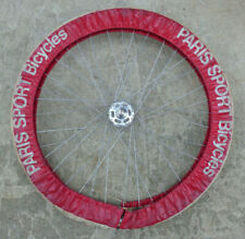 Rare Vintage 1970s Paris Sport Bicycle Tire Wheel Cover Fraysse House French