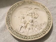 ANTIQUE MEDALLION WALL PLAQUE WITH ANGEL DETAIL. WEDGWOOD ?