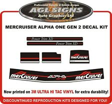 Mercruiser ALPHA ONE GEN 2  Outdrive Reproduction Decal Kit  mercury