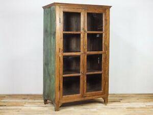 Large 6ft Rustic Teak Wood Cupboard Cabinet Kitchen Display MILL-1136