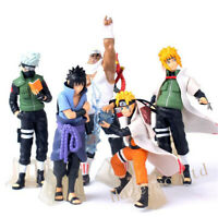 5pcs/set Anime Naruto Uzumaki Kakashi Sasuke PVC Action Figure Model Toy 12cm