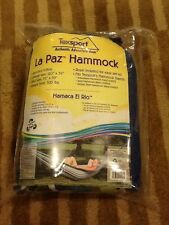 NEW Striped Cotton Hammock from Texsport La Paz Camping Outdoor 14258 with rope