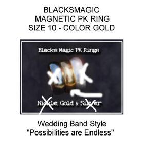 PK RING - SIZE 10 - COLOR GOLD - BLACKSMAGIC