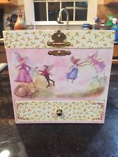 "2005 Fairies Jewelry Music Box W/ 4 Drawers Plays "" Beautiful Dreamer """