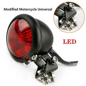 1X Motorcycle Modified LED Brake Tail Light Signal Light Small Round Tail Light