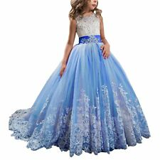 34328b794 Wedding Party Flower Girl Dress Holy Communion Party Prom Princess Pageant  Dress