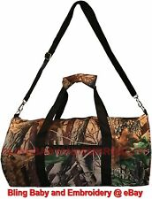 Duffel Bag Carry On Mossy Oak Realtree Pattern Camouflage Camo Gym Field Black