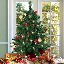 table top decorated christmas tree battery operated small lighted xmas tree 22