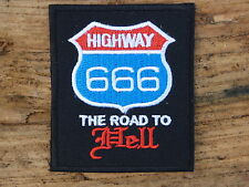 B049 ECUSSON PATCH THERMOCOLLANT aufnaher toppa HIGHWAY 666 road hell /6.6X7.7CM