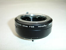 MINOLTA macro tube adapter ring for MD 50mm f/ 3.5 lens OEM / Genuine