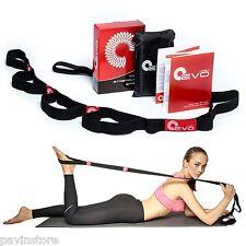 Yoga EVO Premium Yoga Stretching Strap Exercise Elastic Loops Band Workout Sport