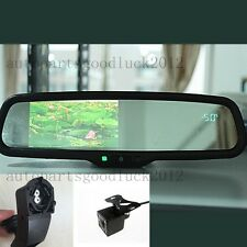 "Normal rearview mirror+4.3"" LCD+compass+temp+camera,fit BMW 3,5,7,x1,x5,x6"