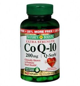 75 Co Q-10 200mg Q-Sorb Nature's Bounty Heart Health Mineral Vitamin Antioxidant