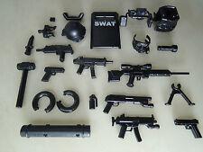 (NO.18-1) custom swat team  helmet  weapson gun police army parts for lego