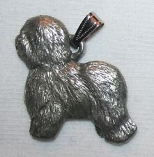 Old English Sheepdog Dog Harris Fine Pewter Pendant Usa Made