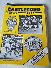 Castleford V Salford programma 13.12.87