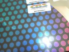 "Dichroic Glass:CBS 90 COE Dot #3 Pattern Crinkle on Flat Smooth Black - 3""Sq"