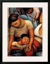 La Noche de Los Pobres Framed Art Poster Print by Diego Rivera, 27x34.5