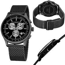 Men's Akribos XXIV Modern Chronograph Stainless Steel Mesh Watch - BRAND NEW!!