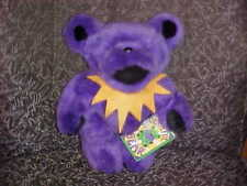"12"" Purple Jointed Grateful Dead Plush Bear With Tags 1990 Liquid Blue"