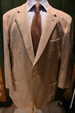 Cantarelli Light Brown Herringbone  Sport Coat Size 46L Made Italy