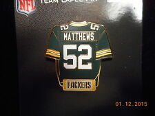 NEW NFL Licensed Green Bay Packers Matthews #52 Jersey Pin