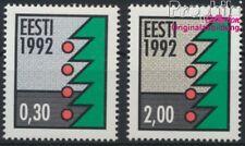 Estland 195y-196y floureszierendes Papier postfrisch 1992 Weihnachten (8843970